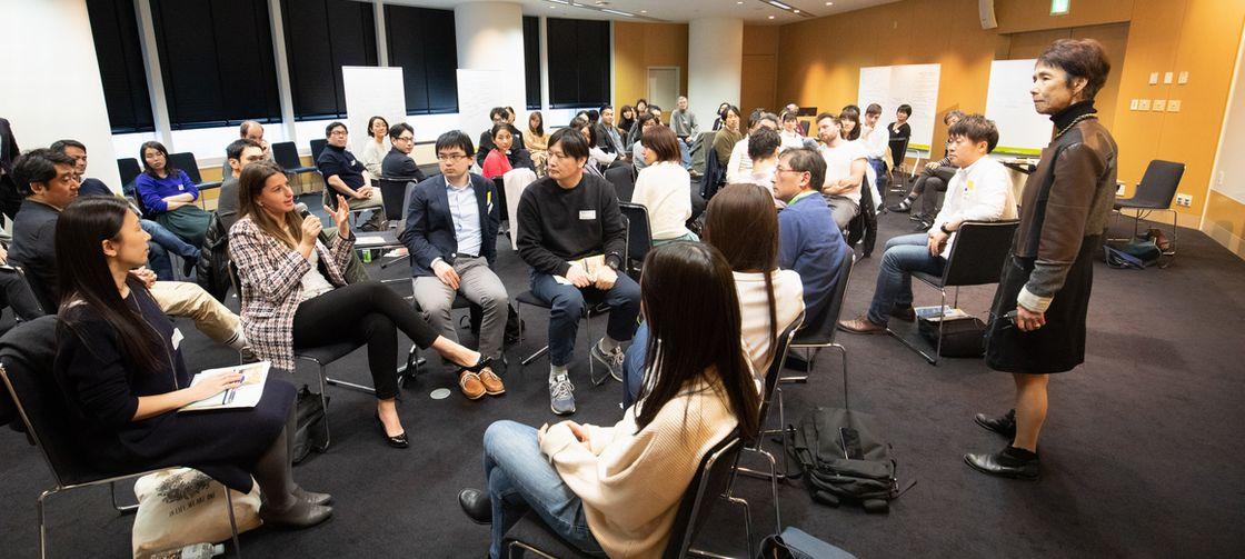 664ec37baade9 2月最後の土曜日。石倉洋子のグローバル・ゼミ(Global Agenda Seminar/GAS)の卒業生が同窓会 に参加するためにアカデミーヒルズに集まりました。